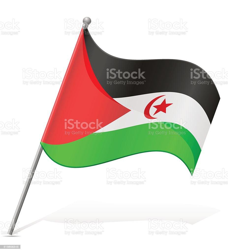 flag of Sahrawi Arab Democratic Republic vector illustration vector art illustration