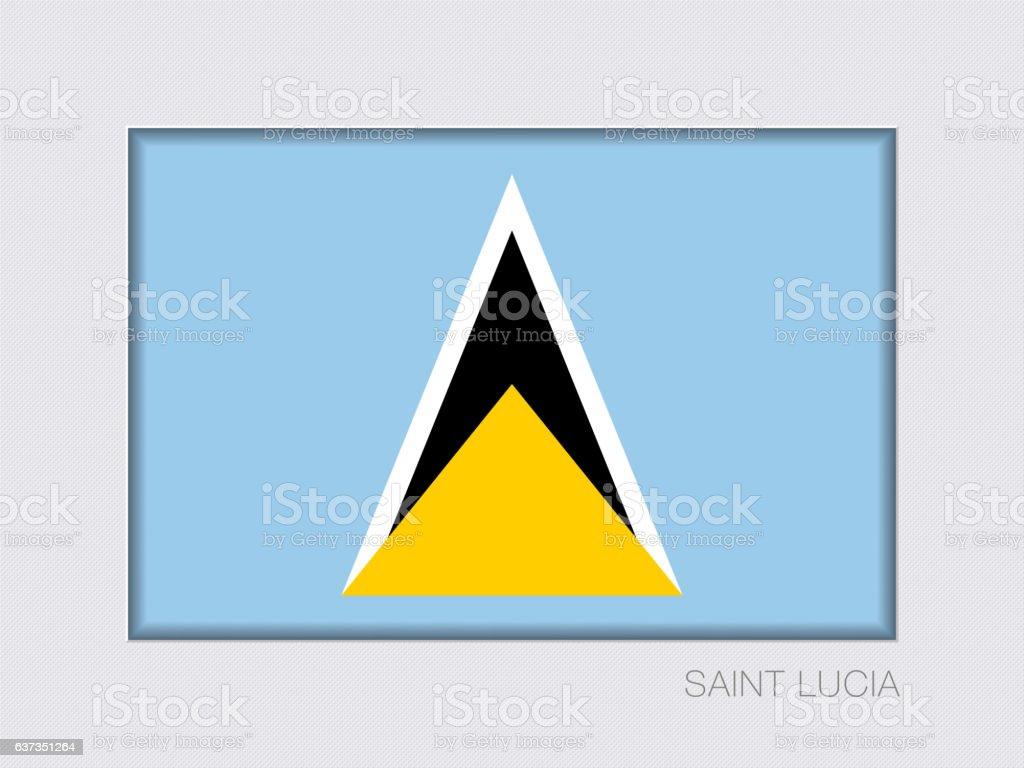Flag of Saint Lucia. Aspect Ratio 2 to 3 vector art illustration