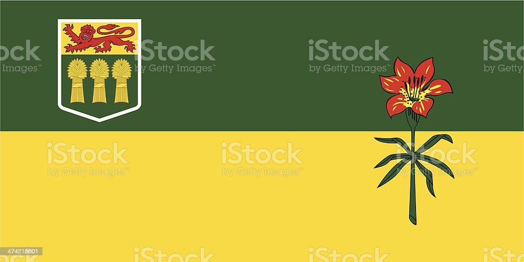 Flag of Saskatchewan vector art illustration
