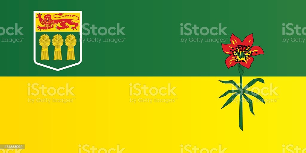 Flag of Saskatchewan vector art illustration