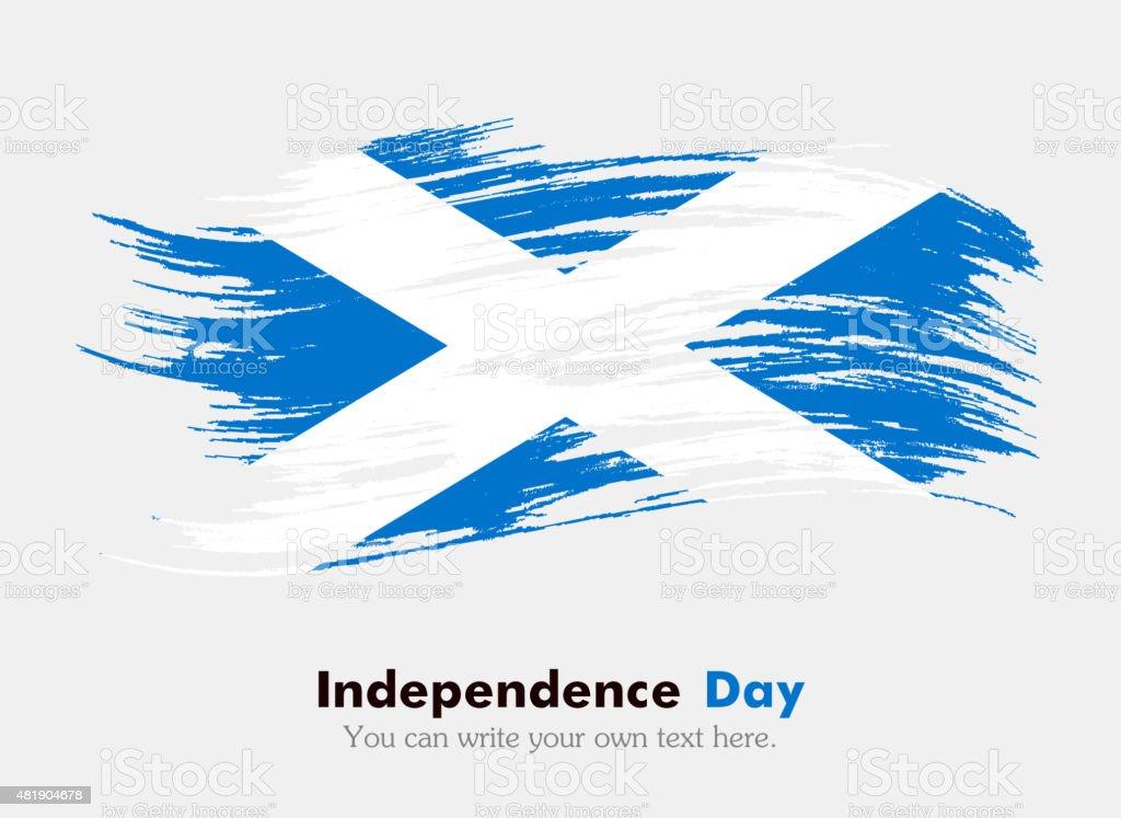 Flag of Scotland vector art illustration
