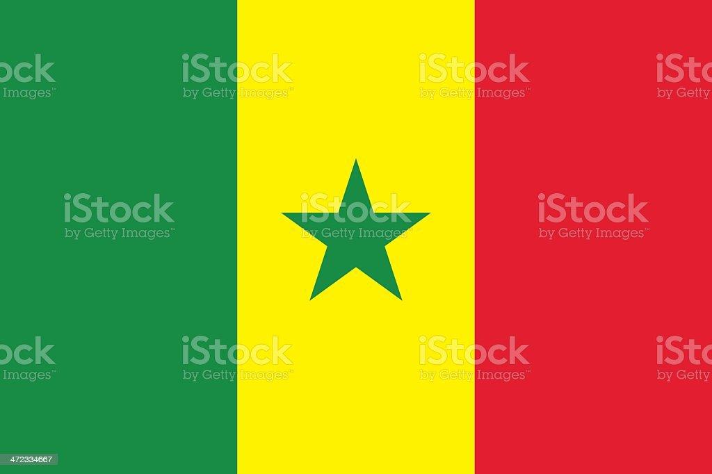 Flag of Senegal vector art illustration