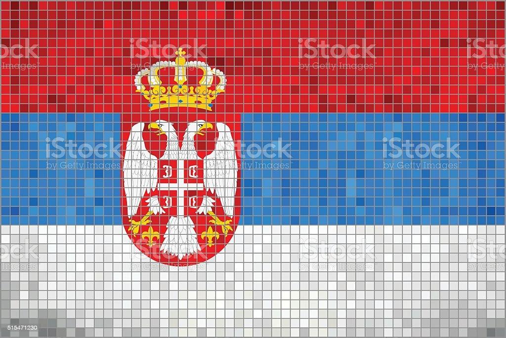 Flag of Serbia vector art illustration