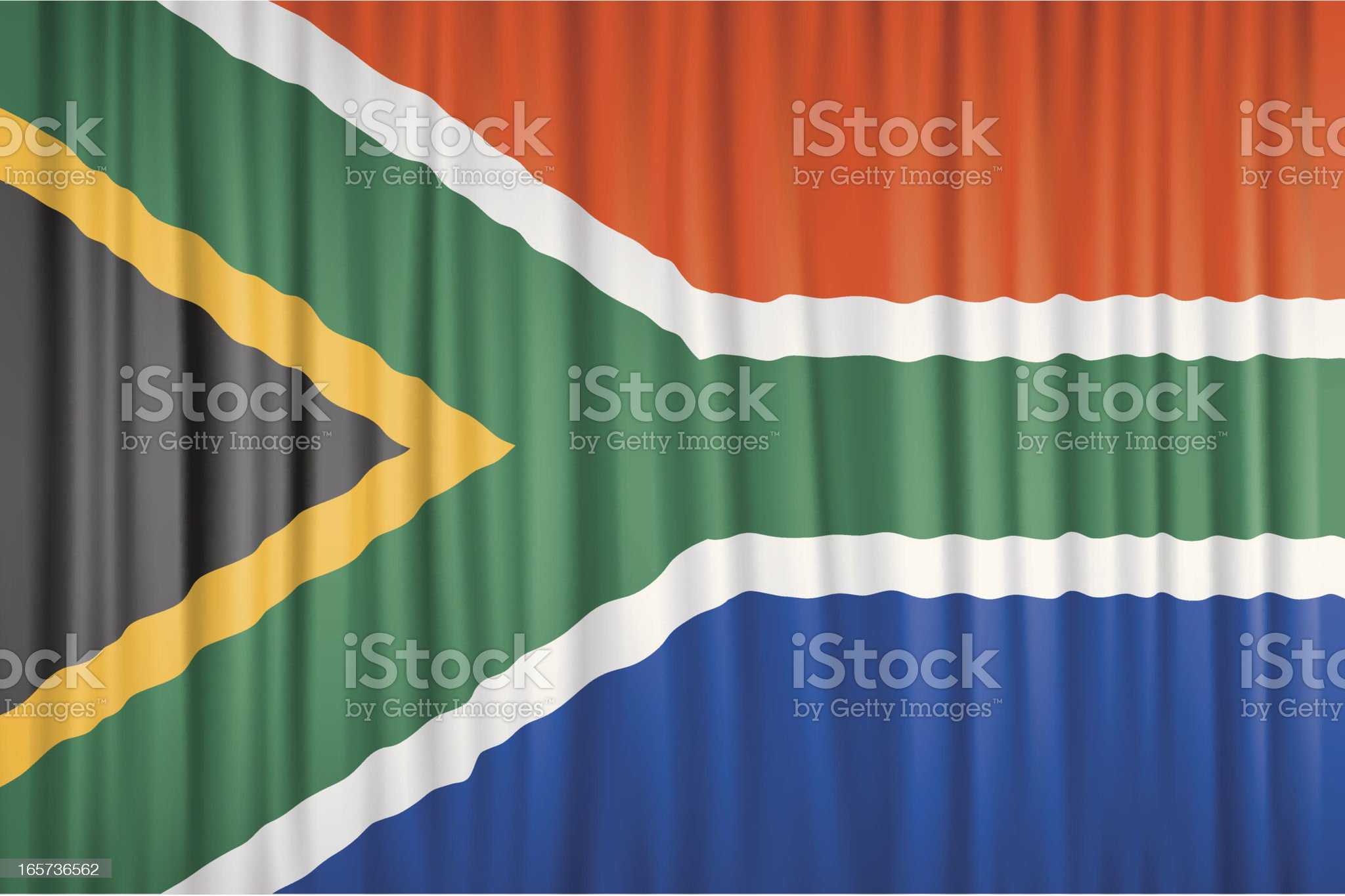 Flag of South Africa royalty-free stock vector art