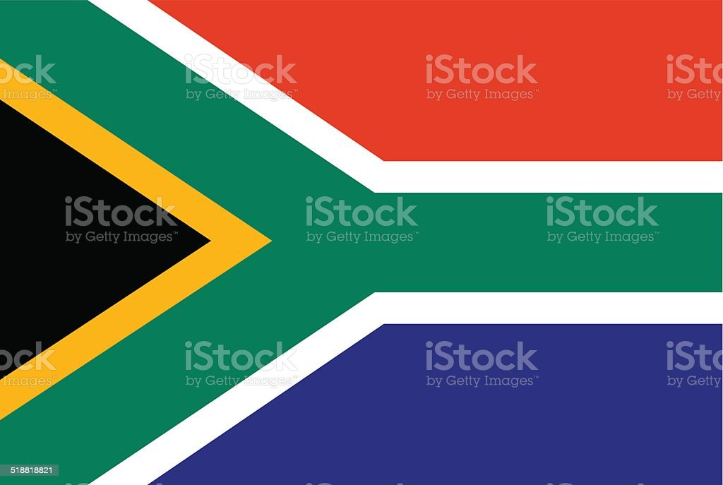 Flag of South Africa vector art illustration