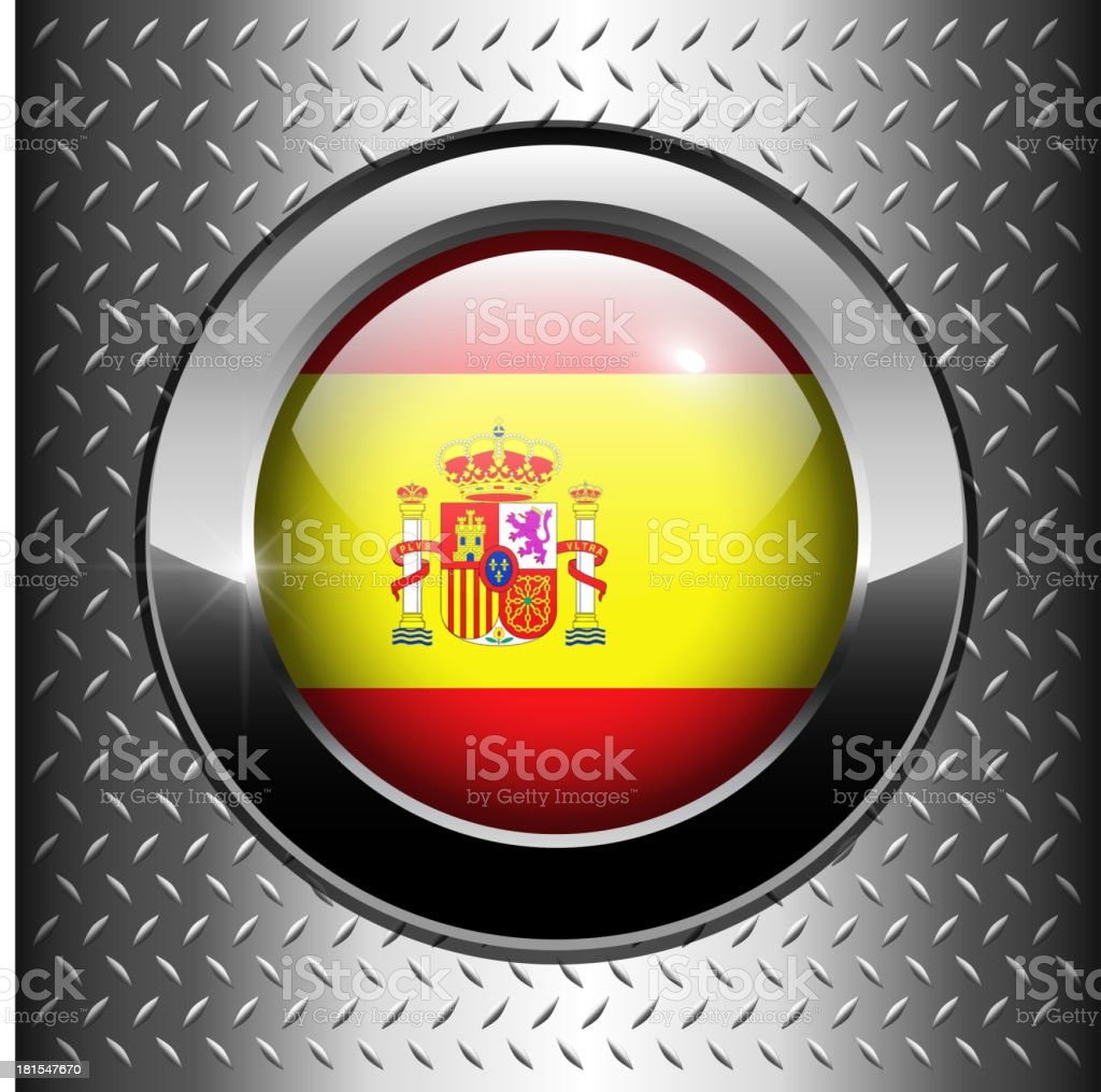 Flag of Spain button royalty-free stock vector art