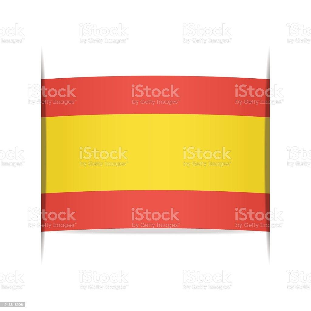 Flag of Spain. Element for infographics. vector art illustration