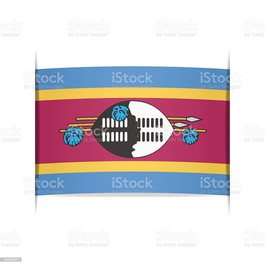 Flag of Swaziland. Element for infographics. vector art illustration