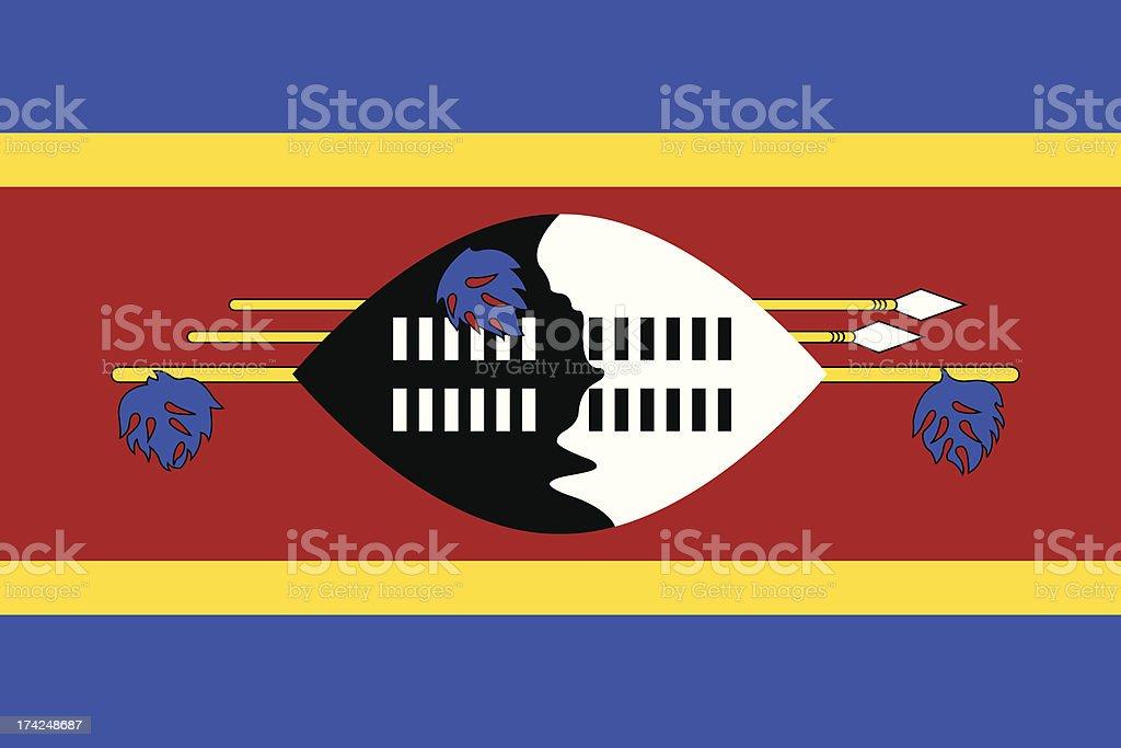 Flag of Swaziland royalty-free stock vector art