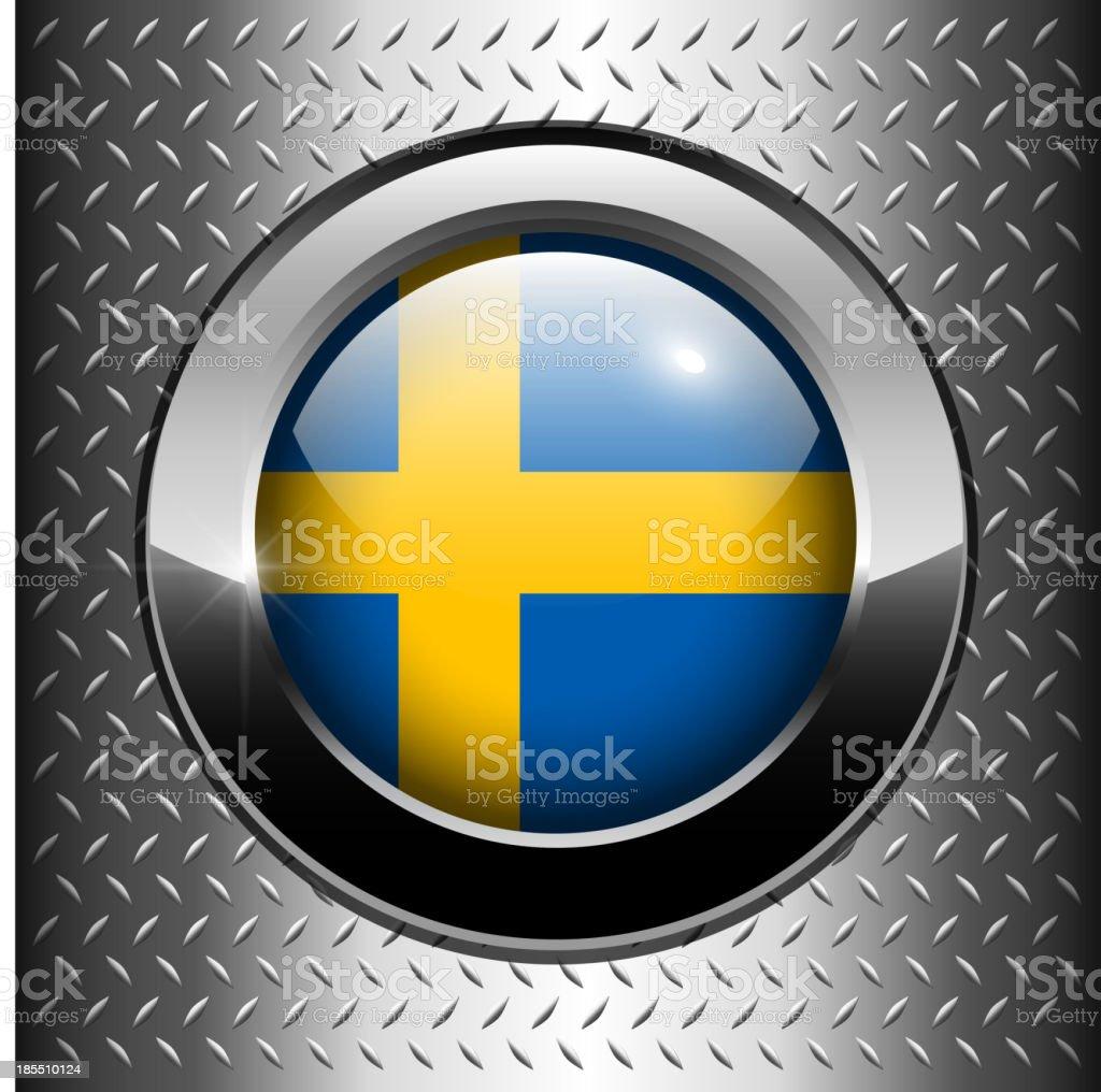 Flag of Sweden button royalty-free stock vector art