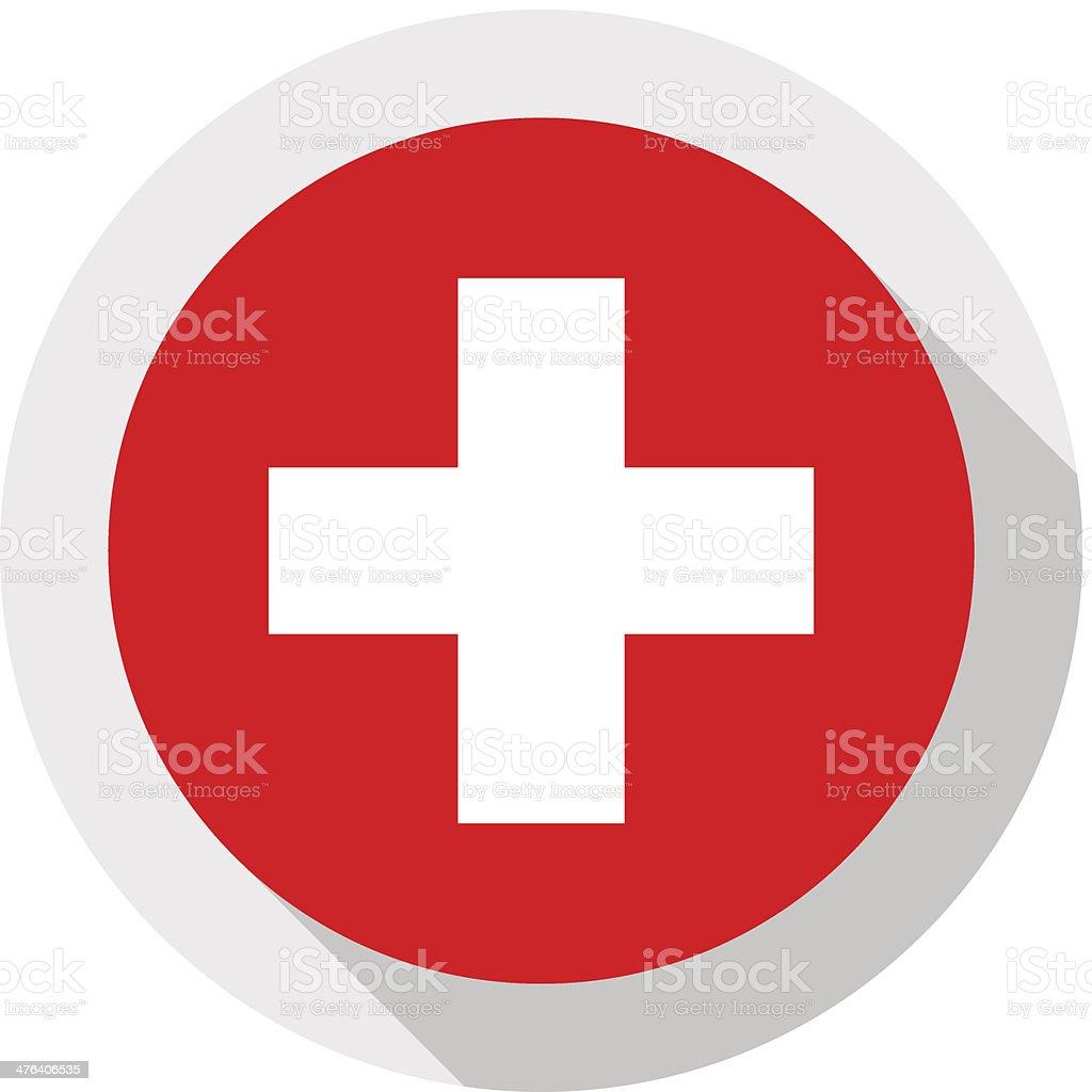 Флаг Швейцарии векторная иллюстрация