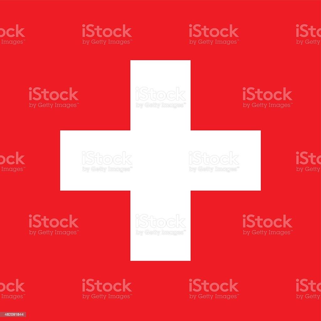 Flag of Switzerland vector art illustration