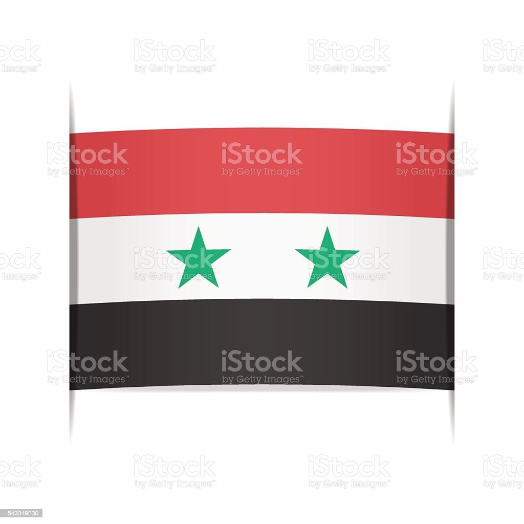 Flag of Syria. Element for infographics. vector art illustration