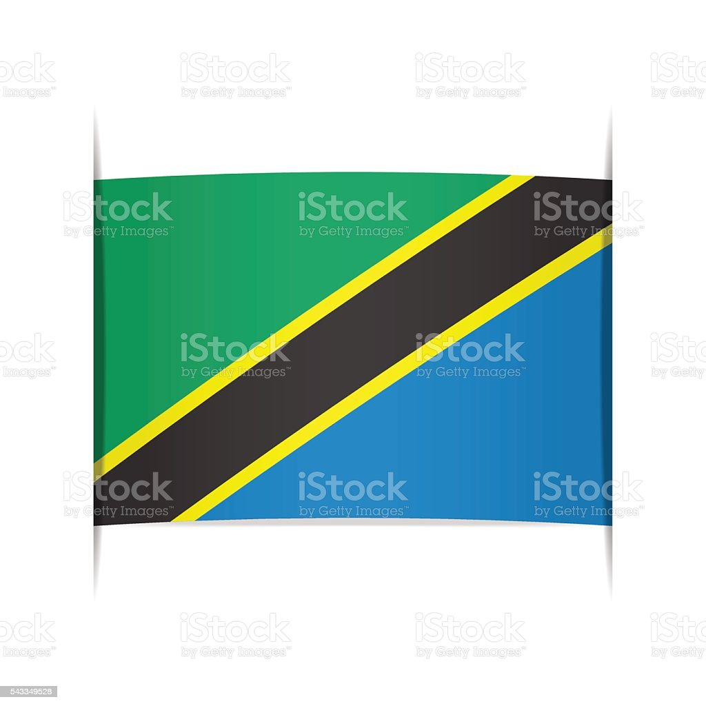 Flag of Tanzania. Element for infographics. vector art illustration