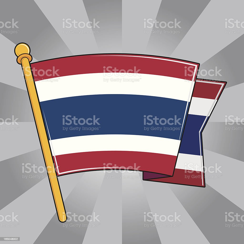 Flag of Thailand royalty-free stock vector art