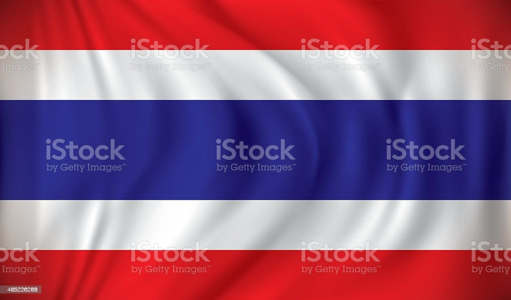 Flag of Thailand vector art illustration
