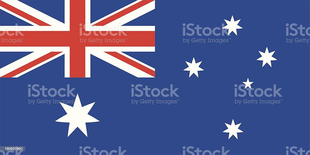 Flag of the Australia vector art illustration