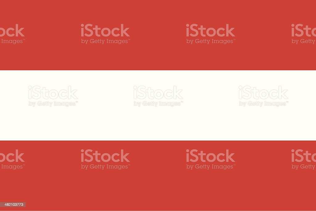 Flag of the Austria vector art illustration