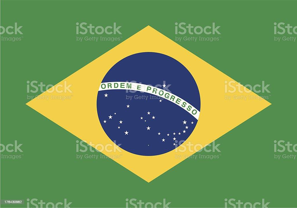 Flag of the Brazil vector art illustration