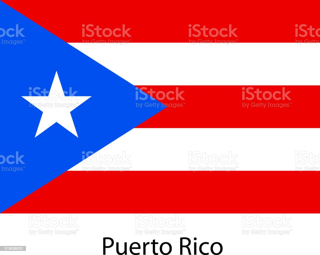 Flag  of the country  puerto rico. Vector illustration. vector art illustration