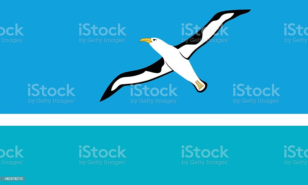 Flag of the Midway Islands vector art illustration