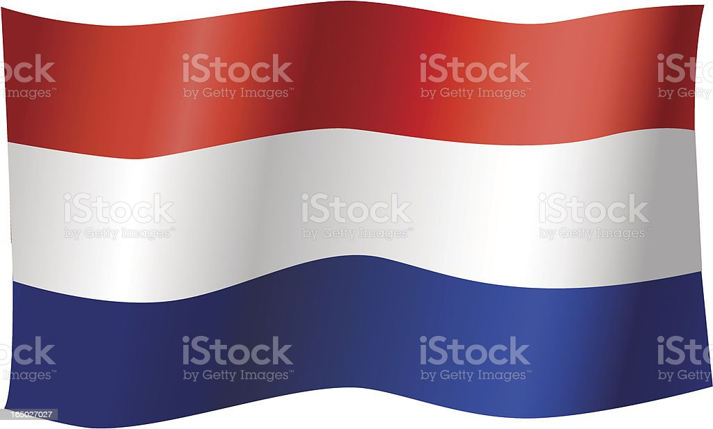 Flag of the Netherlands (Vector) royalty-free stock vector art