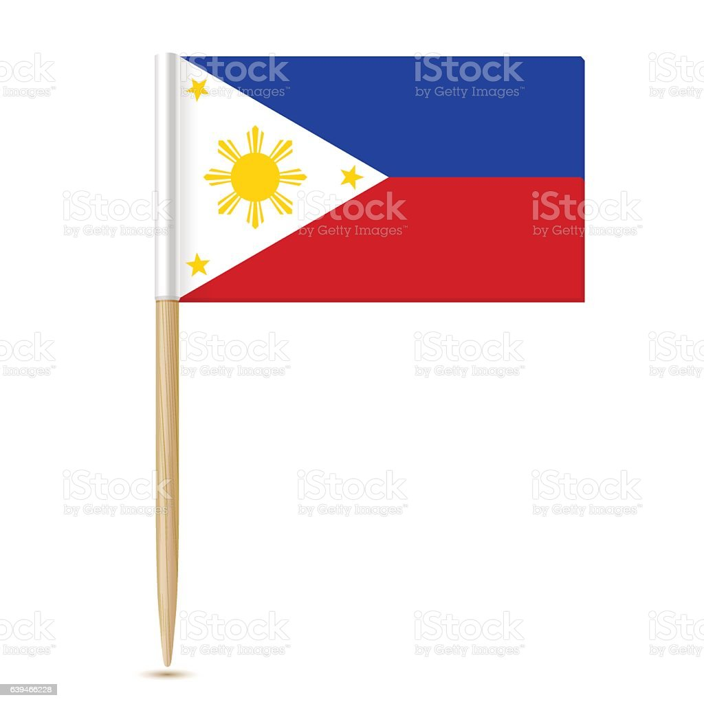 Flag of the Philippines. Flag toothpick 10eps vector art illustration