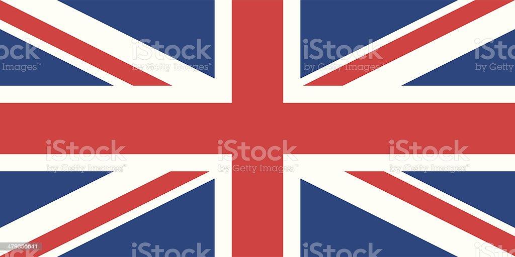 Flag of the United Kingdom vector art illustration