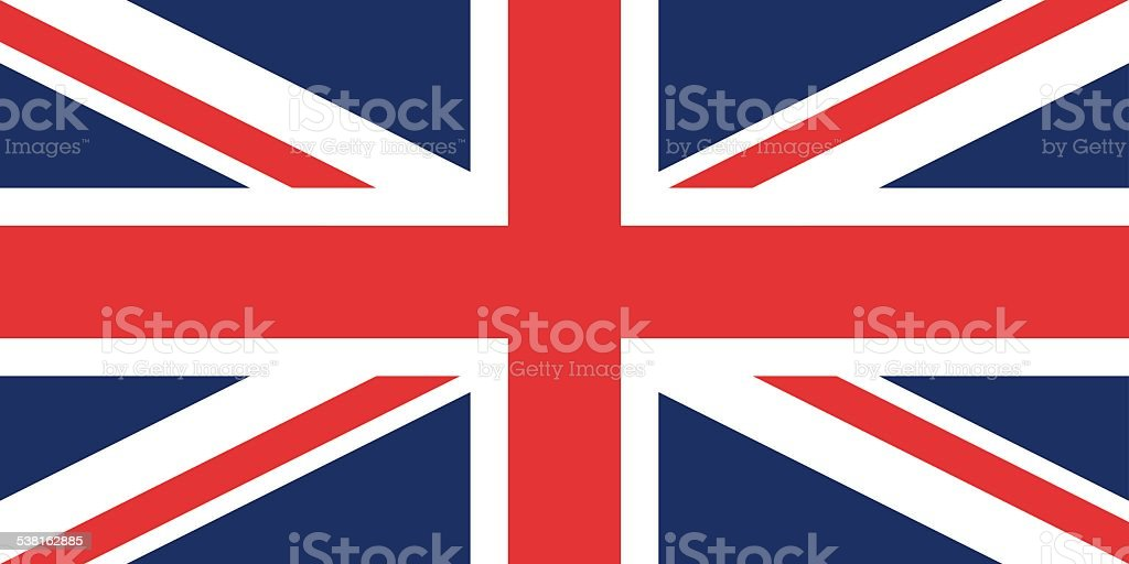 Flag of the United Kingdom (Union Jack) vector art illustration