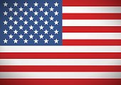 Flag of the United States America. Independence Day.
