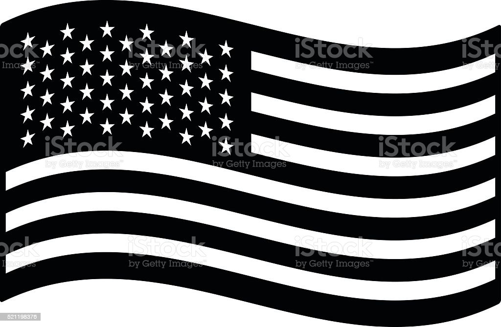 Flag of the United States Illustration vector art illustration