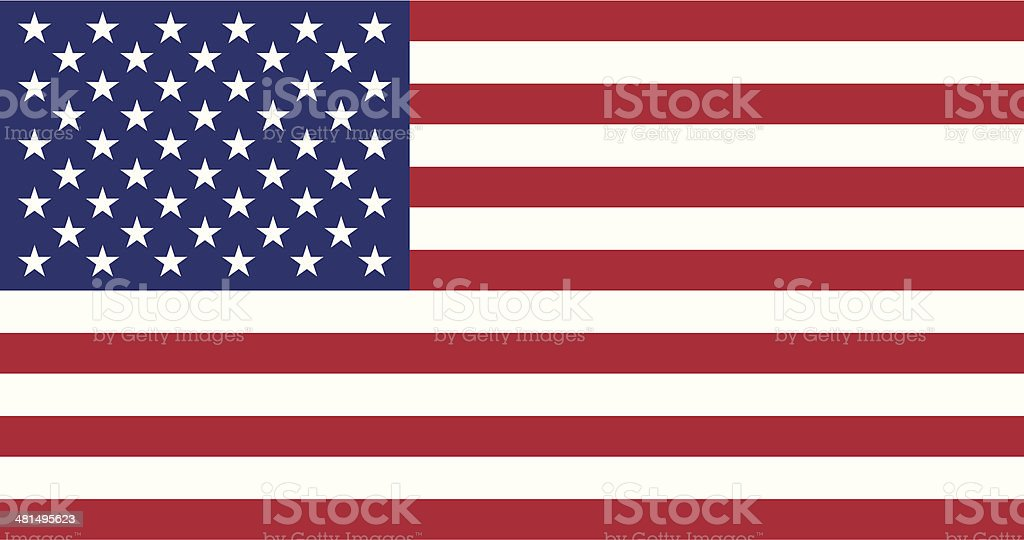Flag of the United States vector art illustration