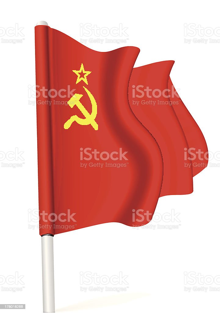Flag of the USSR royalty-free stock vector art