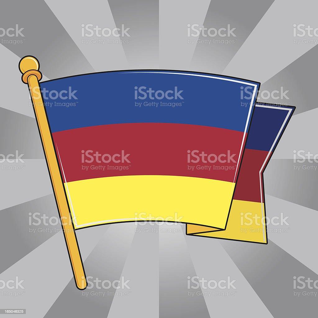 Flag of Transylvania (Landesfarben) royalty-free stock vector art