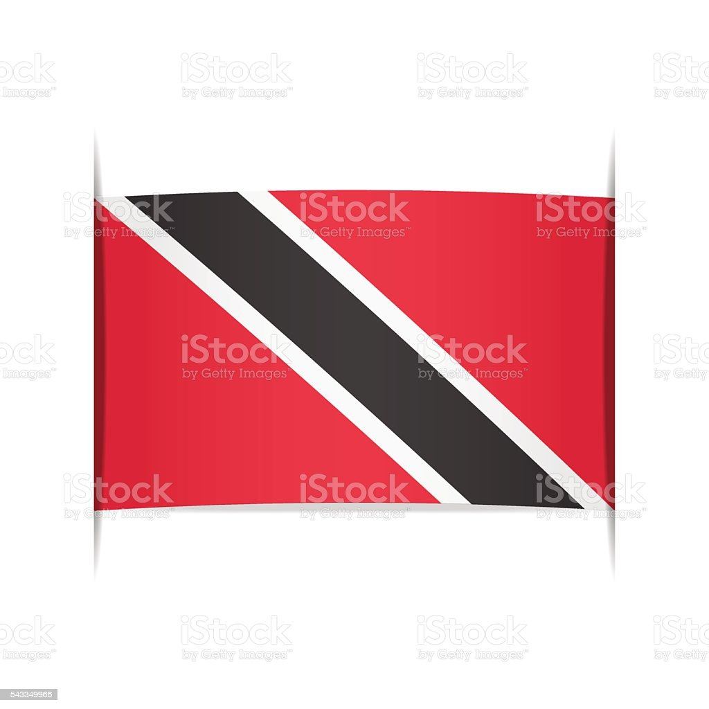 Flag of Trinidad and Tobago. Element for infographics. vector art illustration