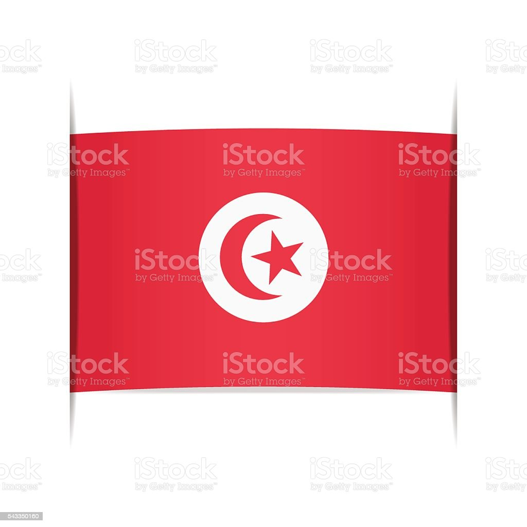 Flag of Tunisia. Element for infographics. vector art illustration