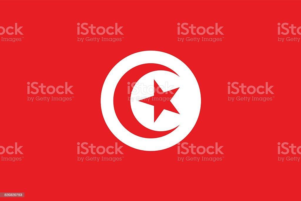 Flag of Tunisia vector art illustration