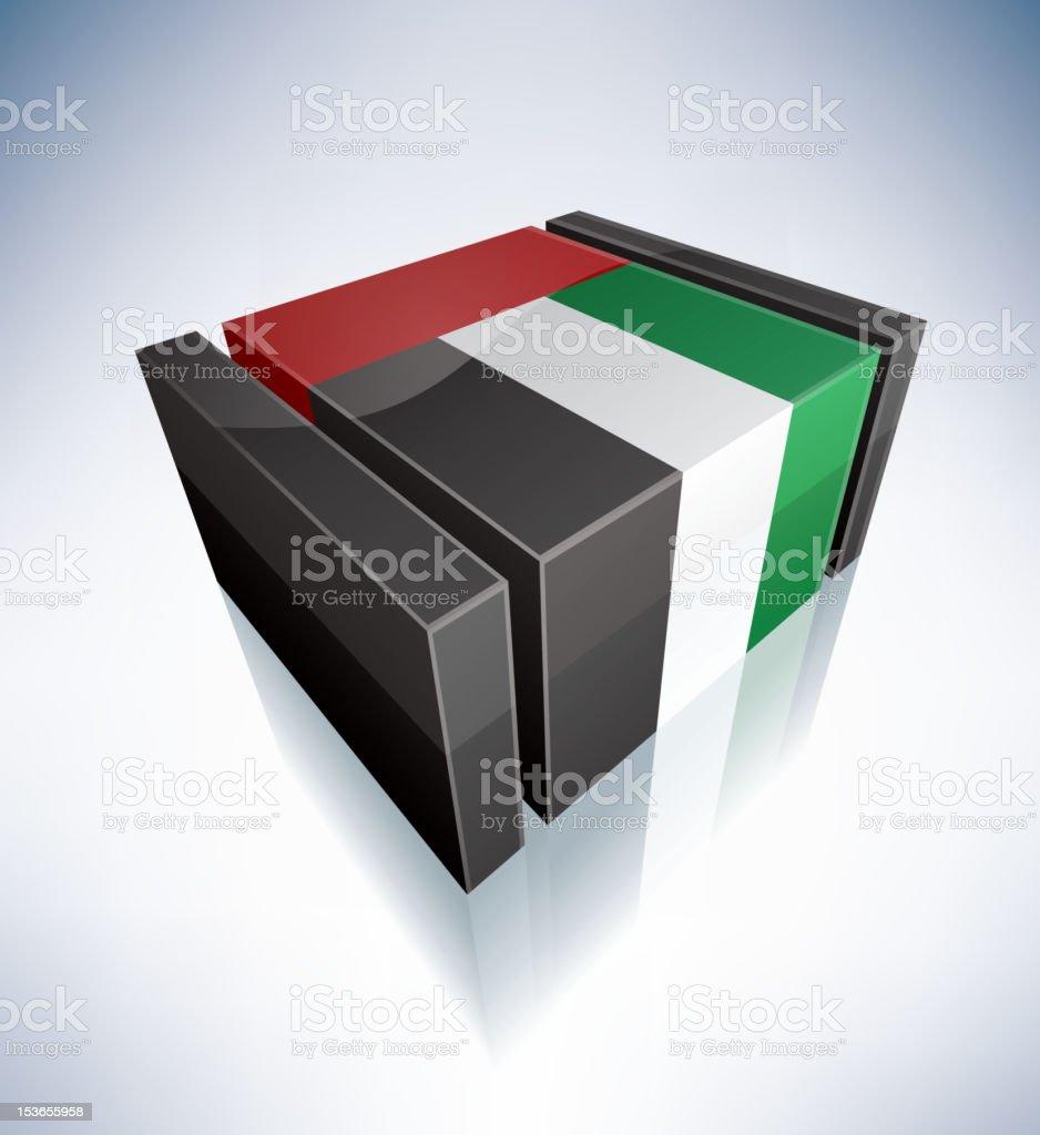 3D flag of UAE royalty-free stock vector art