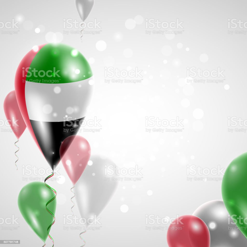 Flag of United Arab Emirates vector art illustration
