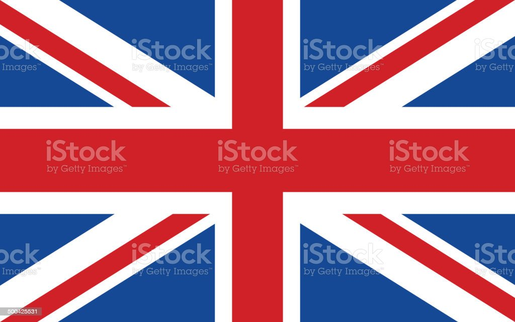 Flag of United Kingdom vector art illustration