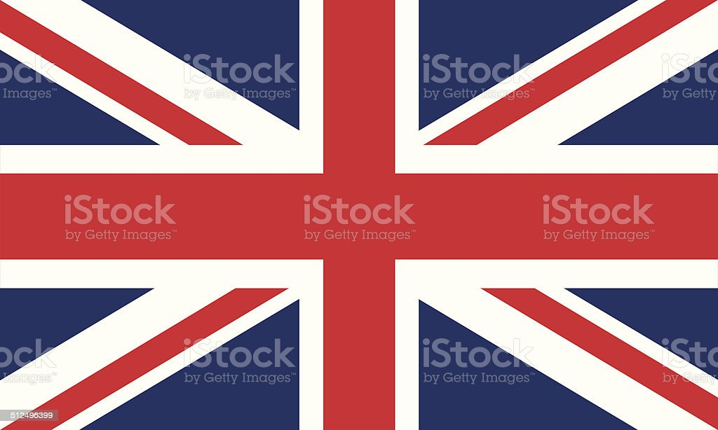 Flag of United Kingdom vector art illustration