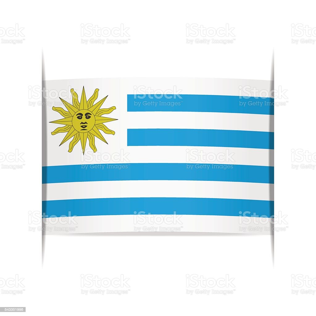 Flag of Uruguay. Element for infographics. vector art illustration