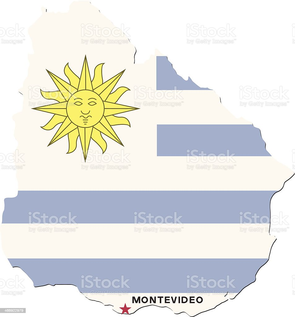 Flag Of Uruguay royalty-free stock vector art
