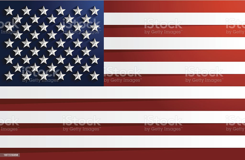 Flag of USA royalty-free stock vector art