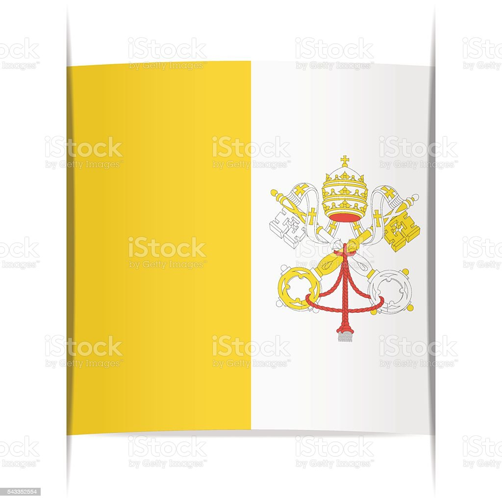 Flag of Vatican. Element for infographics. vector art illustration