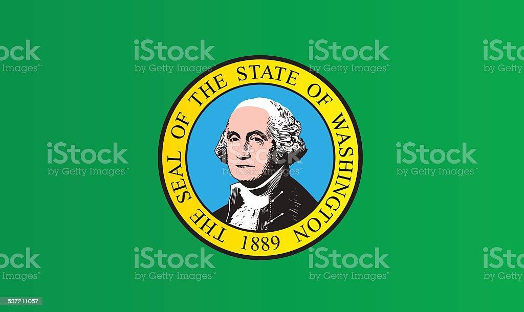 Flag of Washington state vector art illustration