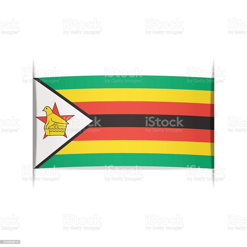 Flag of Zimbabwe. Element for infographics. vector art illustration