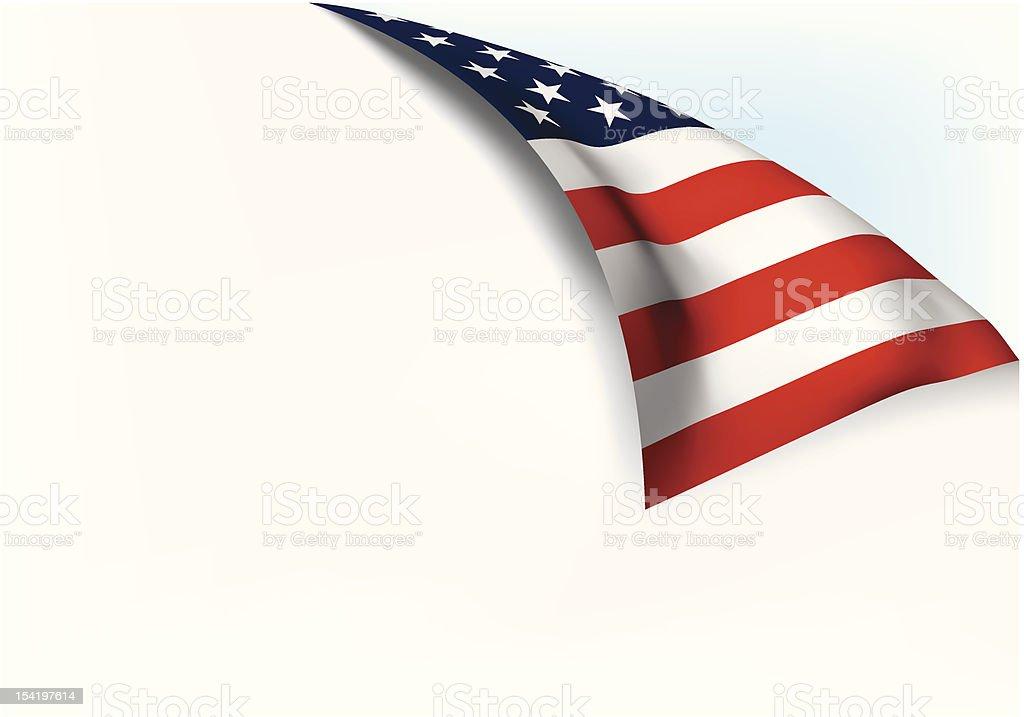 USA flag Page turn royalty-free stock vector art
