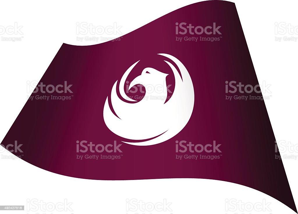 Flag Phoenix vector art illustration