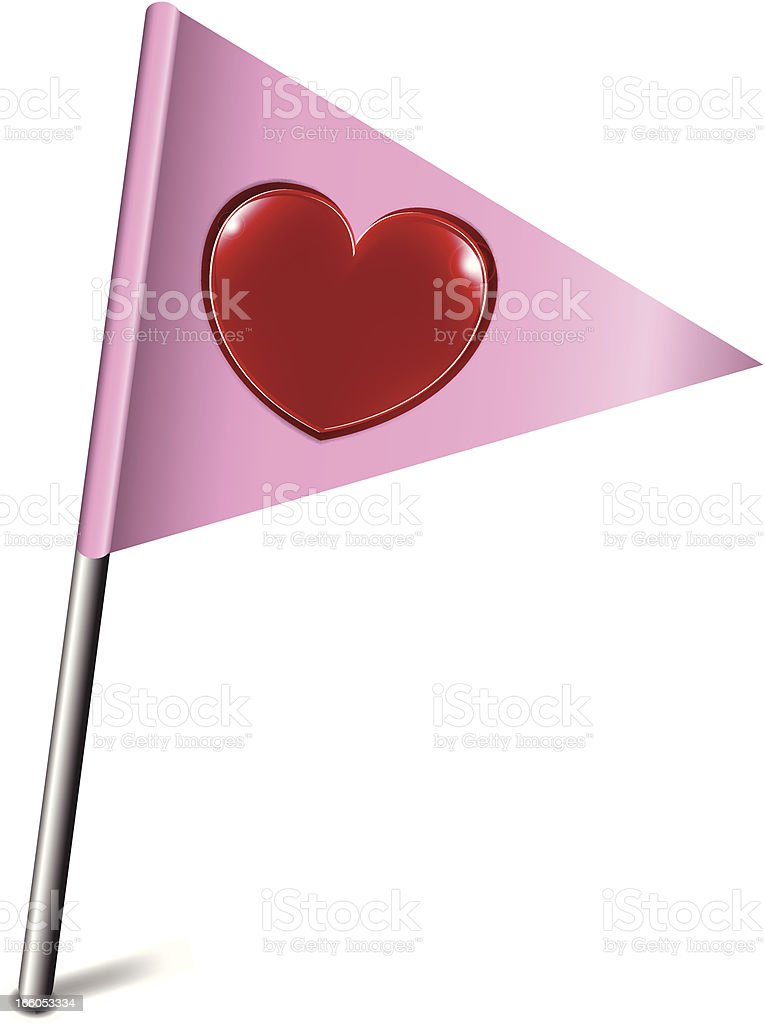 Flag   Pink with Heart royalty-free stock vector art